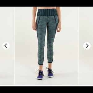 Lululemon Can't Stop Crop 4 Inkwell